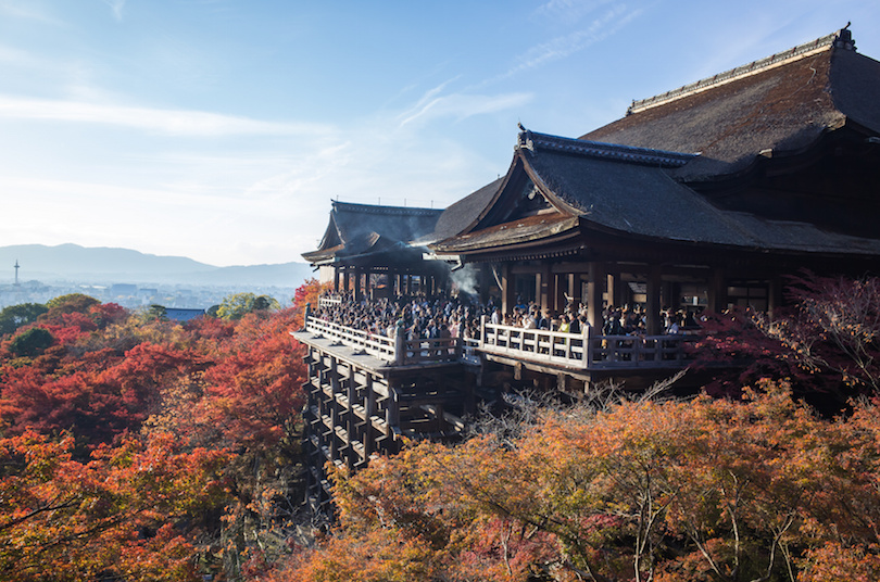The Kiyomizu-dera Buddhist temple