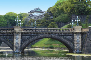 The Emperor of Japan makes his home at the Tokyo Imperial Palace